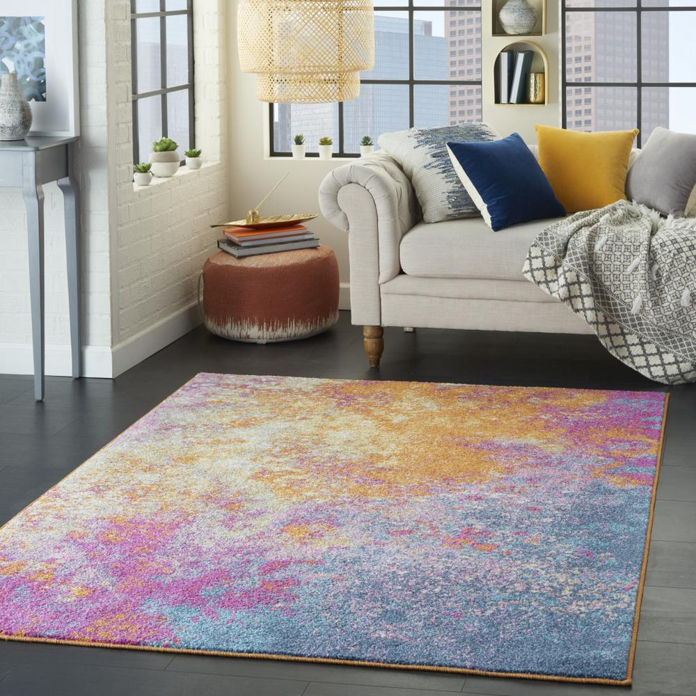 4' x 6' Abstract Brights Sunburst Area Rug - 385377. Picture 6