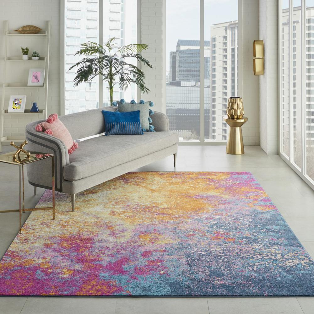 7' x 10' Abstract Brights Sunburst Area Rug - 385381. Picture 4