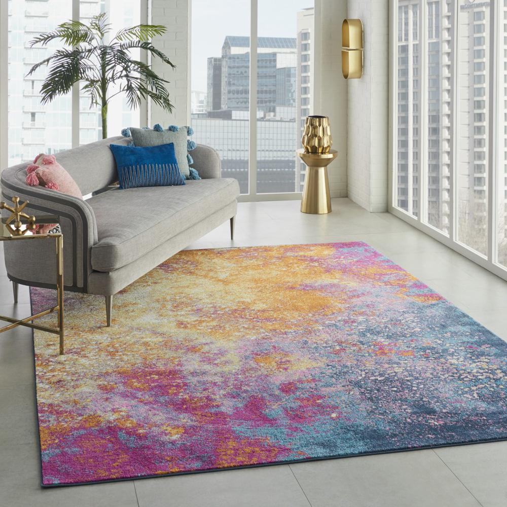 7' x 10' Abstract Brights Sunburst Area Rug - 385381. Picture 6