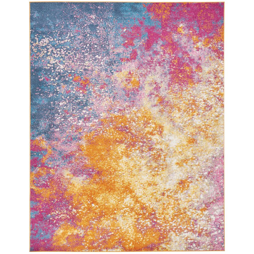 8' x 10' Abstract Brights Sunburst Area Rug - 385382. Picture 1
