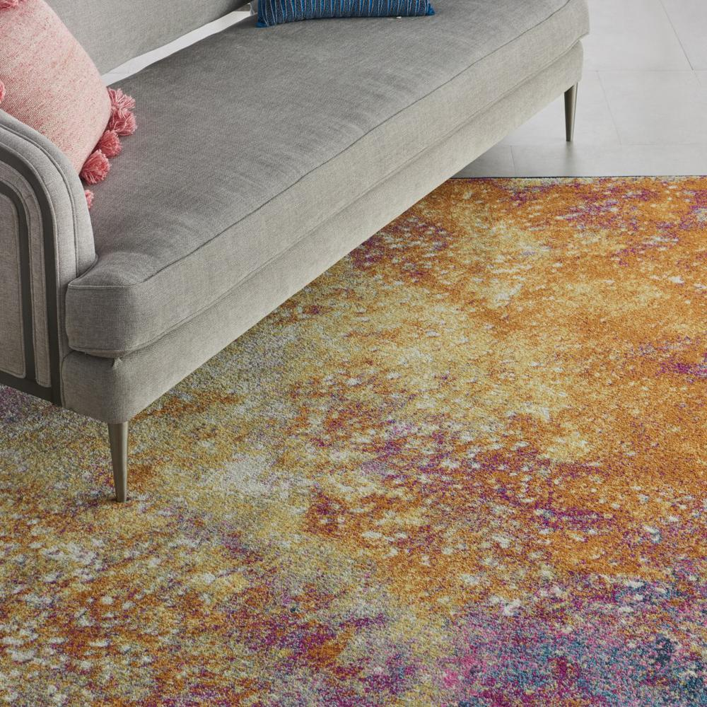 8' x 10' Abstract Brights Sunburst Area Rug - 385382. Picture 5