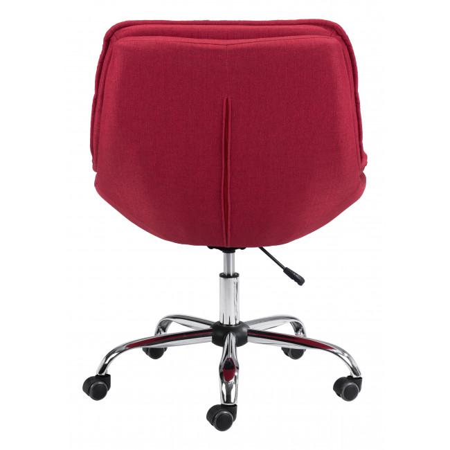 Red Plush Armless Rolling Office Chair - 385449. Picture 4