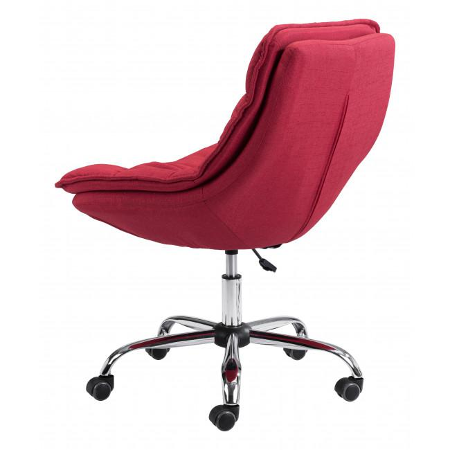 Red Plush Armless Rolling Office Chair - 385449. Picture 5