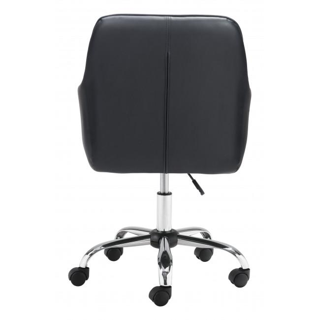 Black Faux Leather Upholstered Stylish Office Chair - 385467. Picture 4