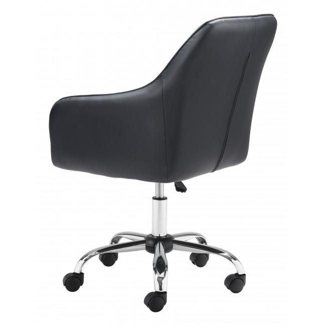 Black Faux Leather Upholstered Stylish Office Chair - 385467. Picture 5