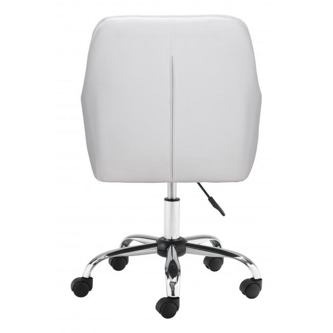 White Faux Leather Upholstered Stylish Office Chair - 385468. Picture 4