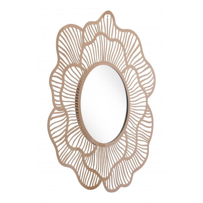 Flower Lines Gold Finish Wall Mirror - 385473. Picture 3