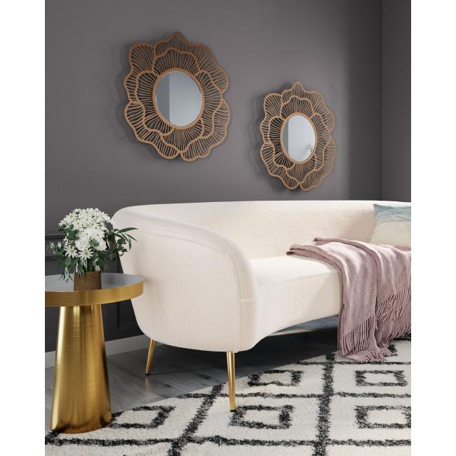 Flower Lines Gold Finish Wall Mirror - 385473. Picture 5