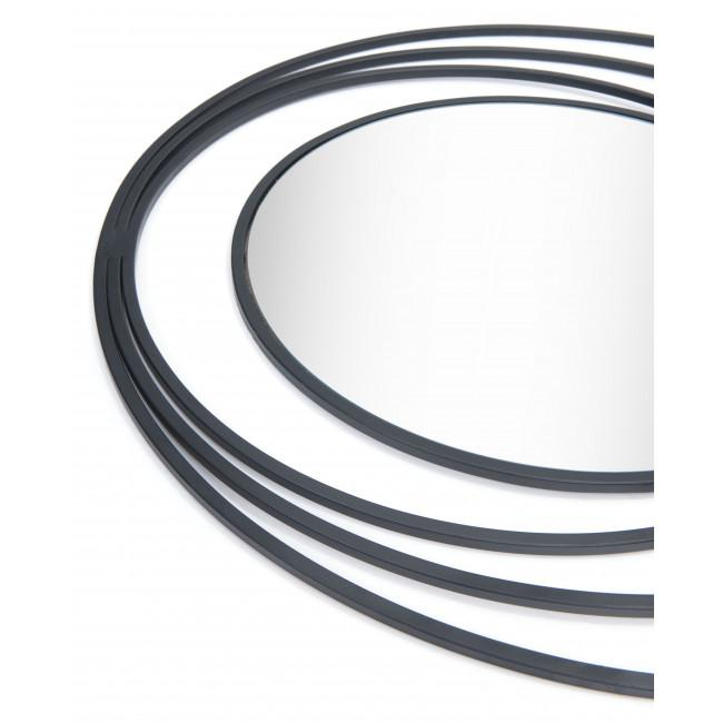 Concentric Circles Black Finish Wall Mirror - 385474. Picture 4