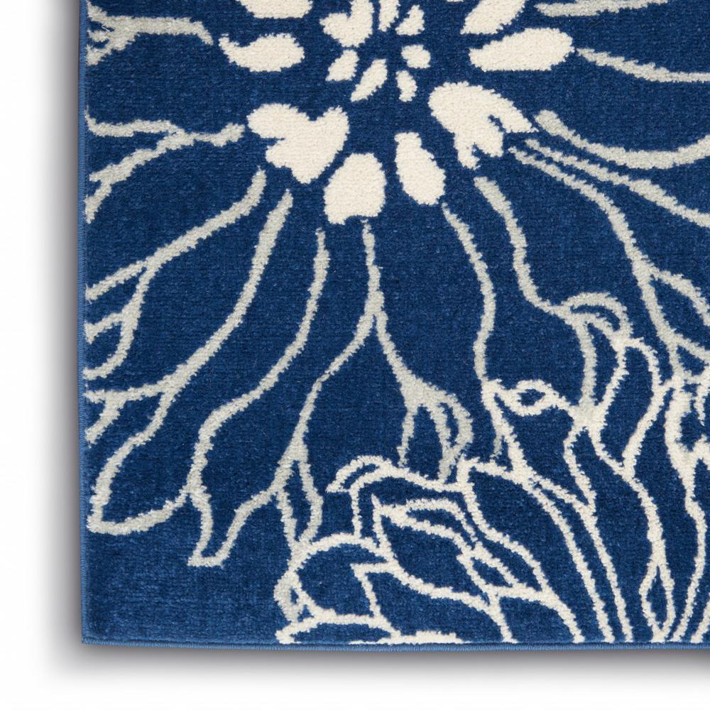 5' x 7' Navy and Ivory Floral Area Rug - 385479. Picture 7