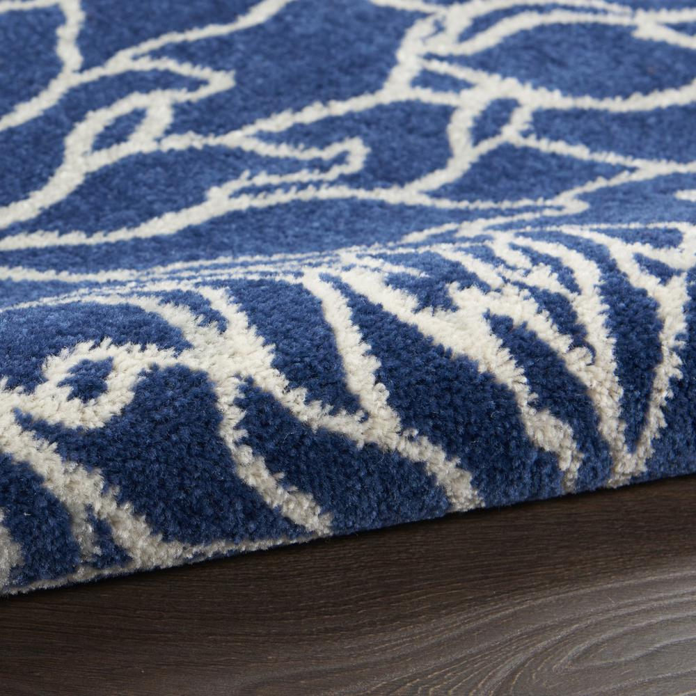 7' x 10' Navy and Ivory Floral Area Rug - 385481. Picture 3