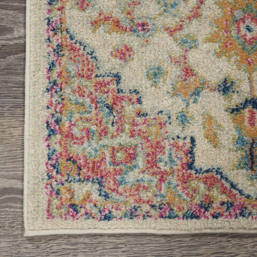 8' x 10' Ivory and Pink Medallion Area Rug - 385594. Picture 2