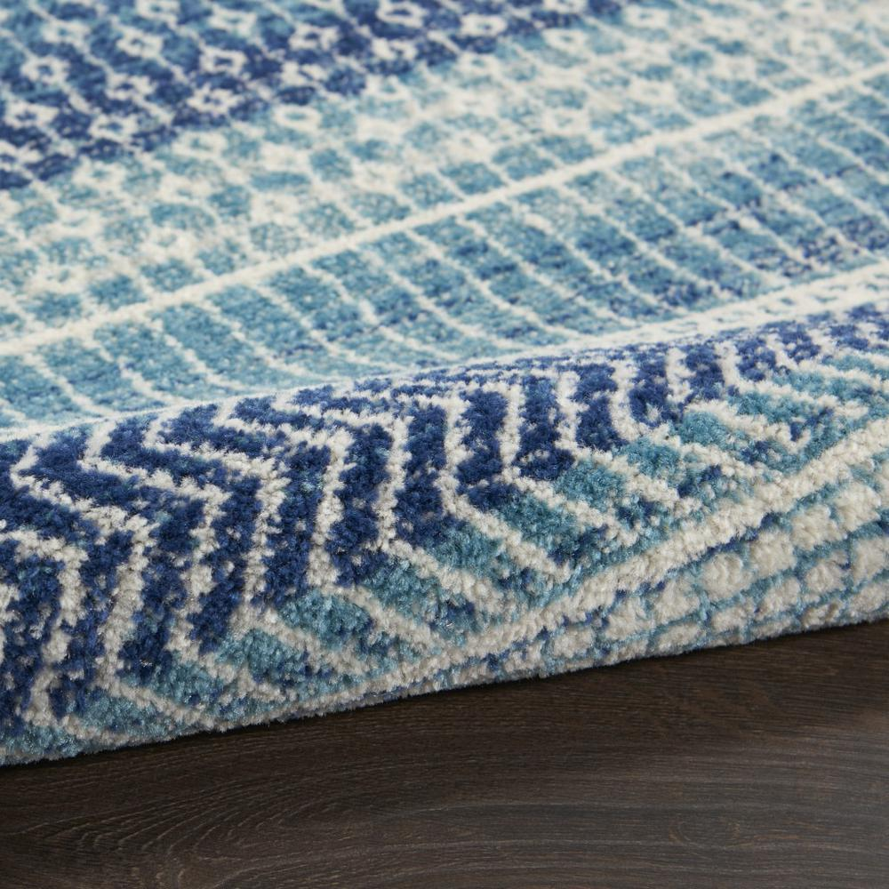 2' x 8' Navy Blue Ornate Stripes Runner Rug - 385596. Picture 3