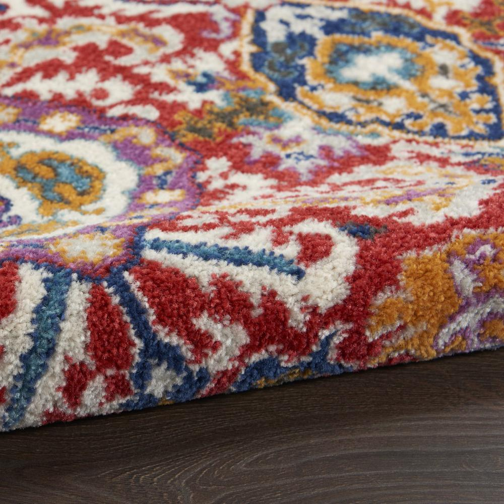 5' x 7' Red and Multicolor Decorative Area Rug - 385646. Picture 3