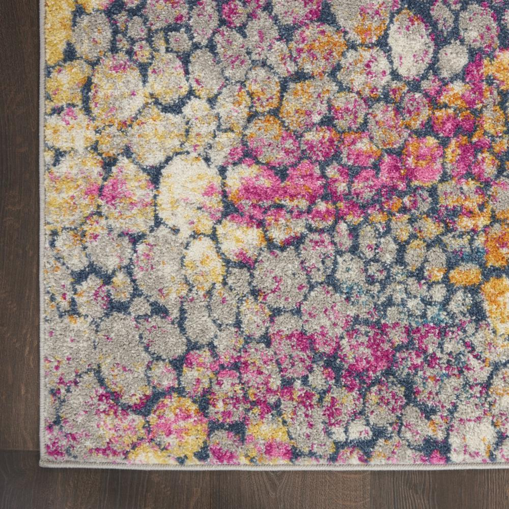 2' x 8' Yellow and Pink Coral Reef Runner Rug - 385661. Picture 2