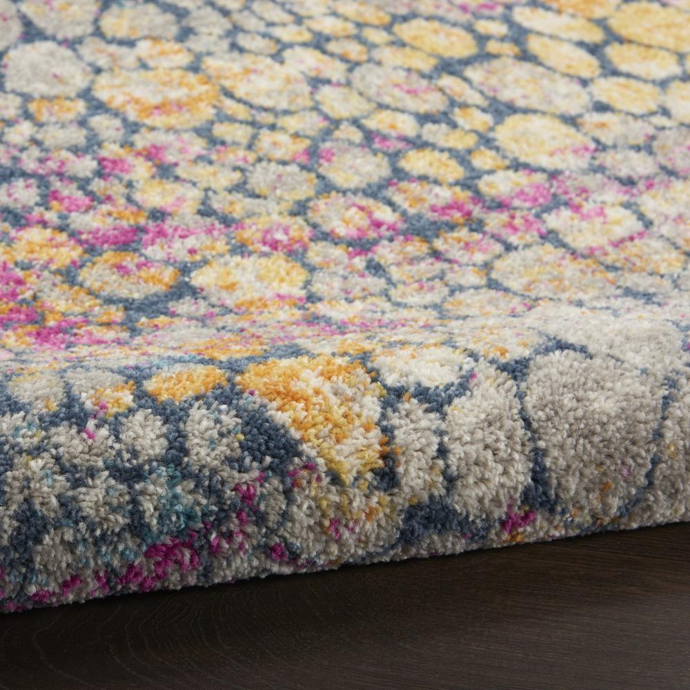4' Round Yellow and Pink Coral Reef Area Rug - 385663. Picture 3