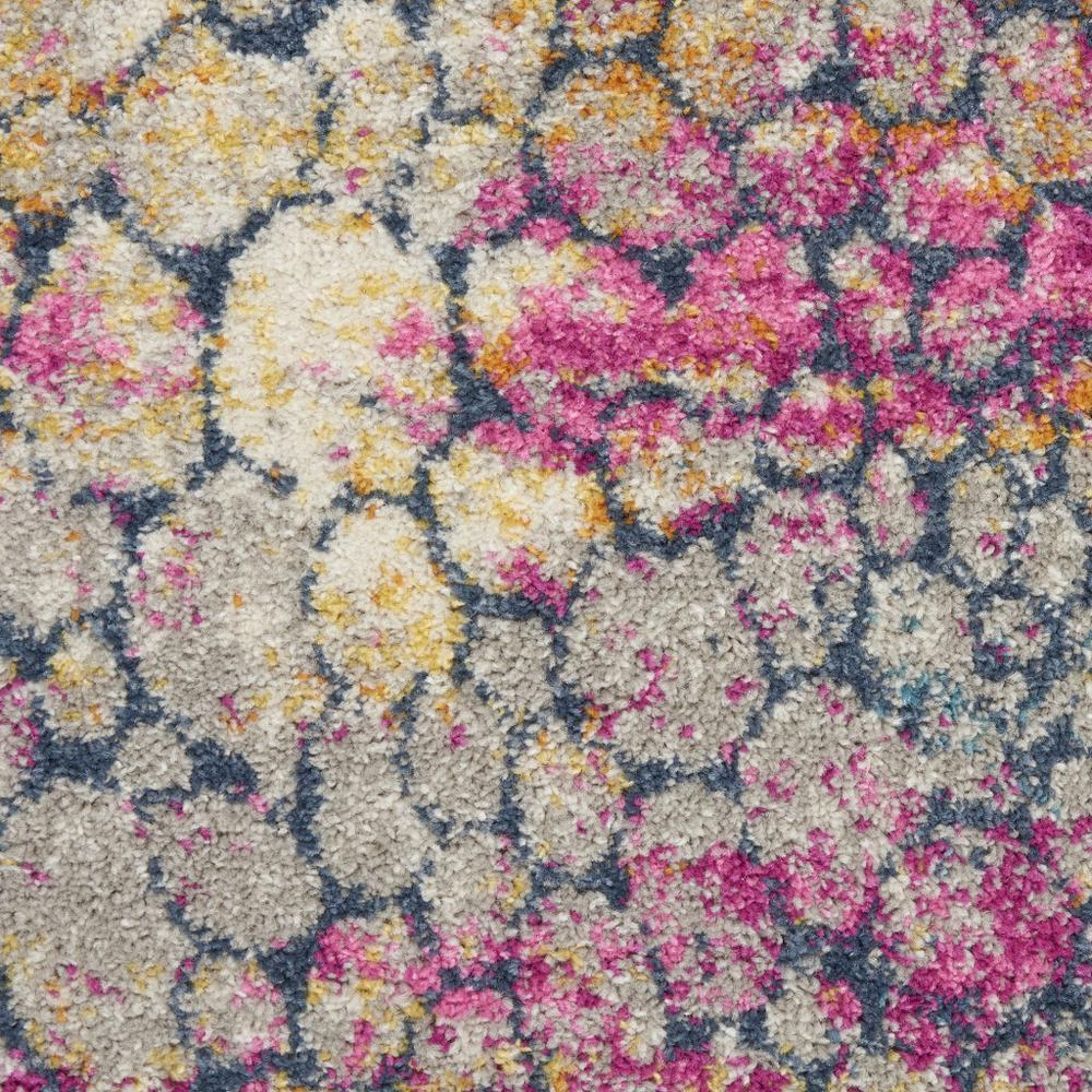 4' Round Yellow and Pink Coral Reef Area Rug - 385663. Picture 6