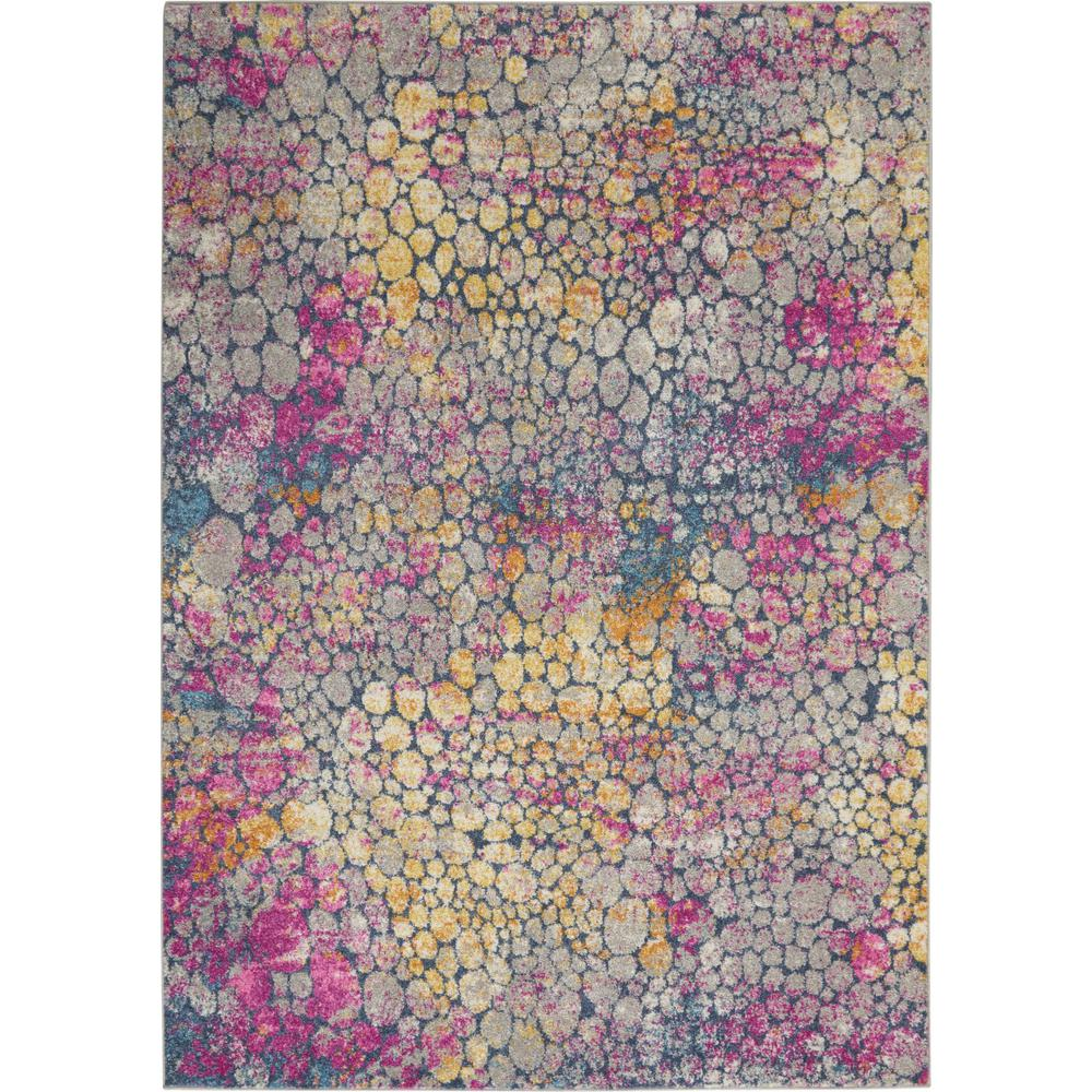 5' x 7' Yellow and Pink Coral Reef Area Rug - 385664. Picture 1