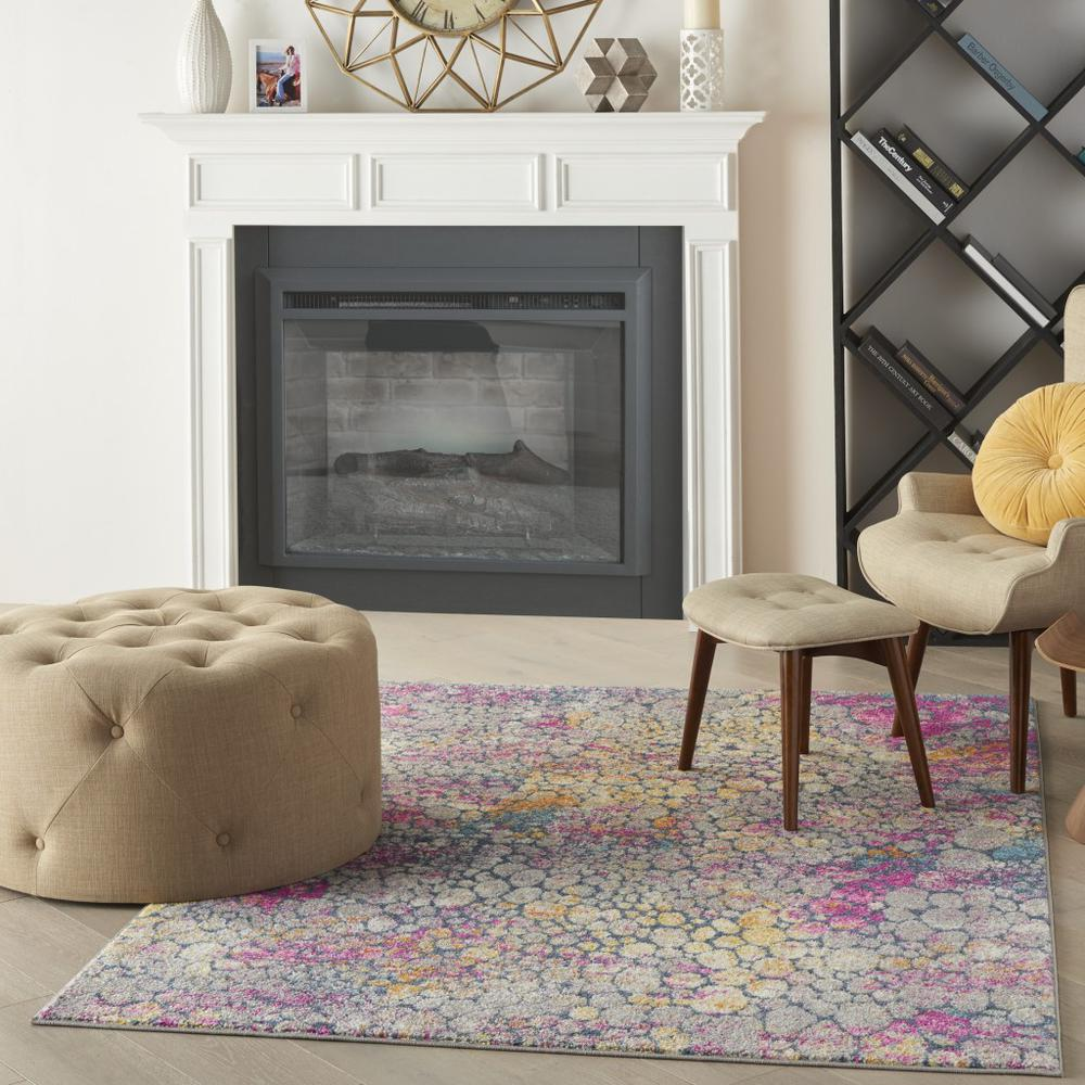 5' x 7' Yellow and Pink Coral Reef Area Rug - 385664. Picture 6