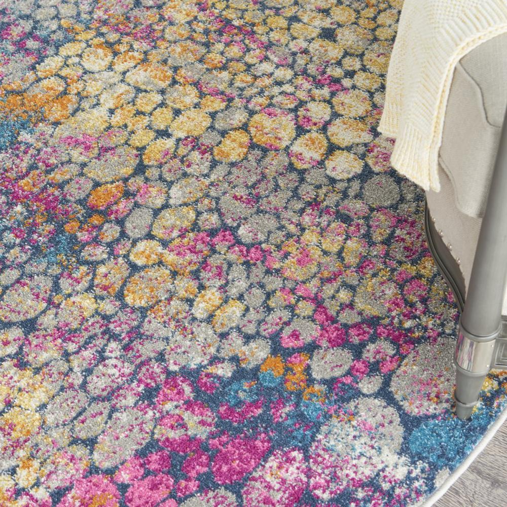 5' Round Yellow and Pink Coral Reef Area Rug - 385665. Picture 5
