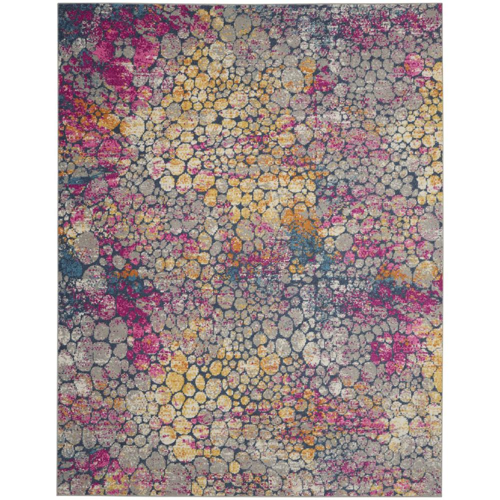 7' x 10' Yellow and Pink Coral Reef Area Rug - 385666. Picture 1