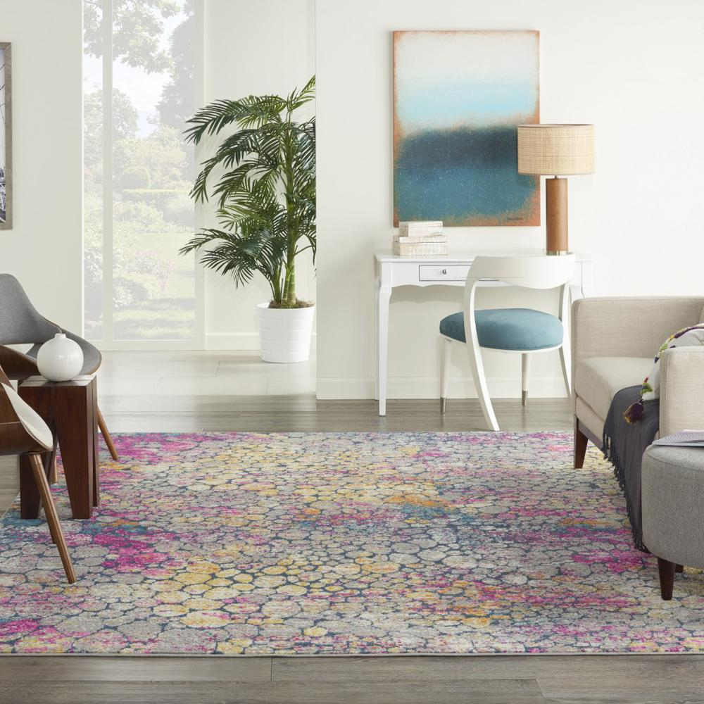 7' x 10' Yellow and Pink Coral Reef Area Rug - 385666. Picture 4
