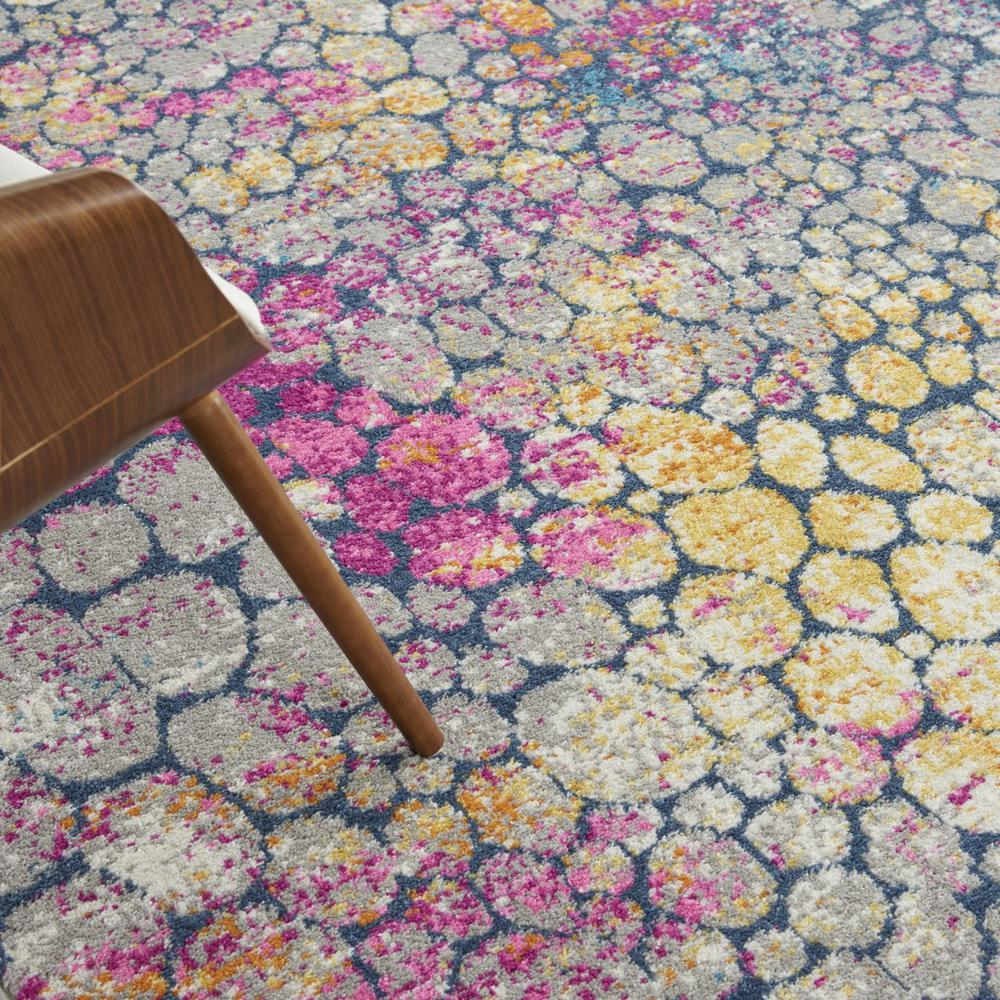 7' x 10' Yellow and Pink Coral Reef Area Rug - 385666. Picture 5