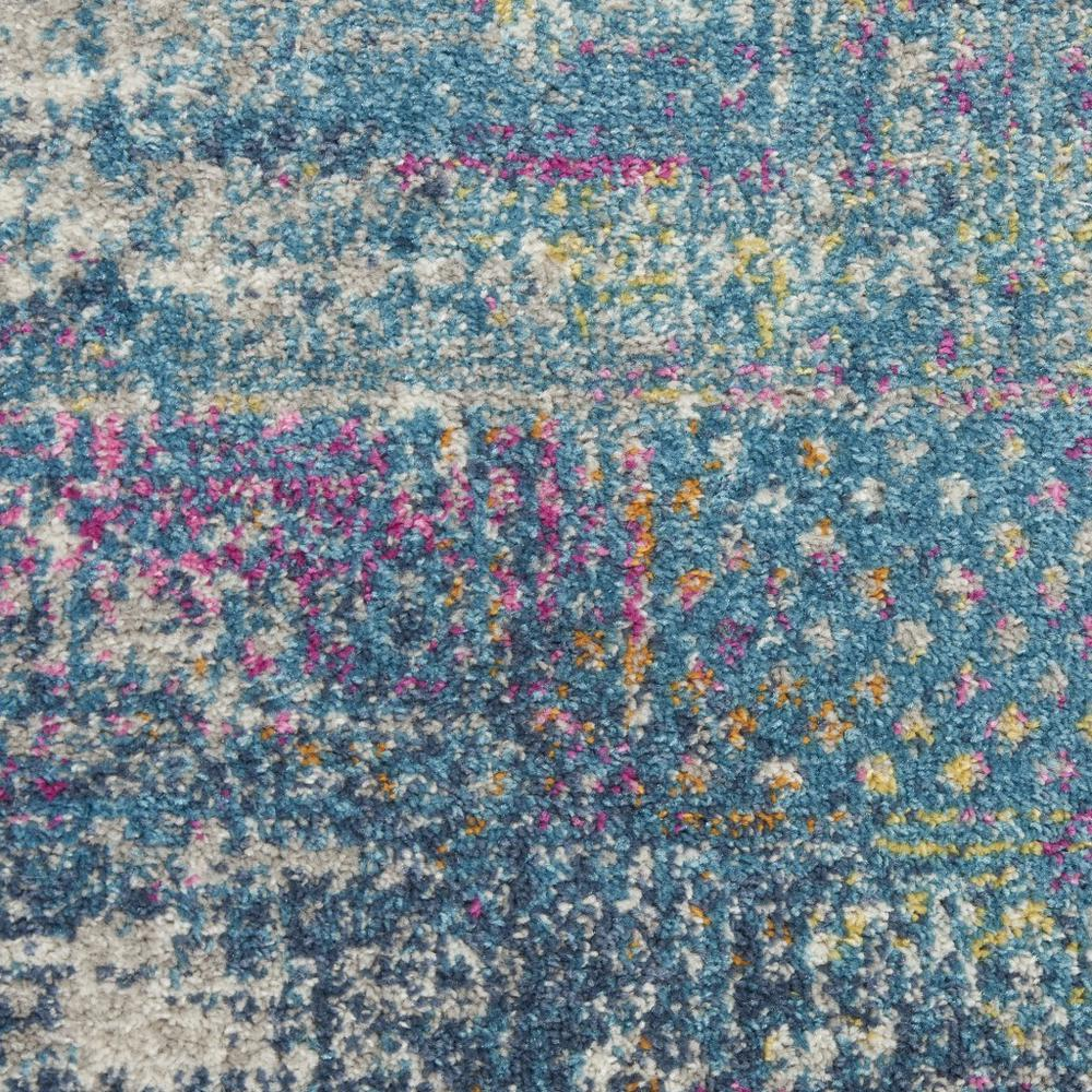 2' x 8' Blue Distressed Medallion Runner Rug - 385733. Picture 5