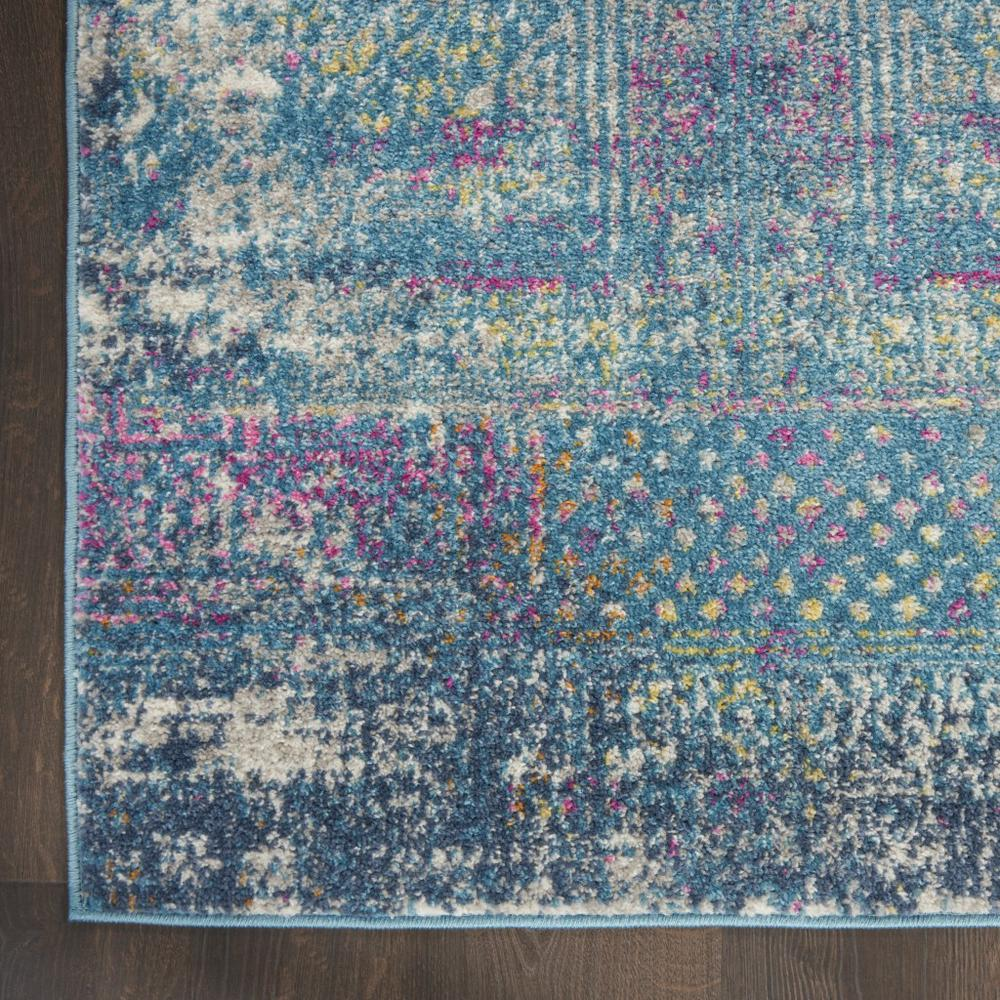 5' x 7' Blue Distressed Medallion Area Rug - 385736. Picture 2