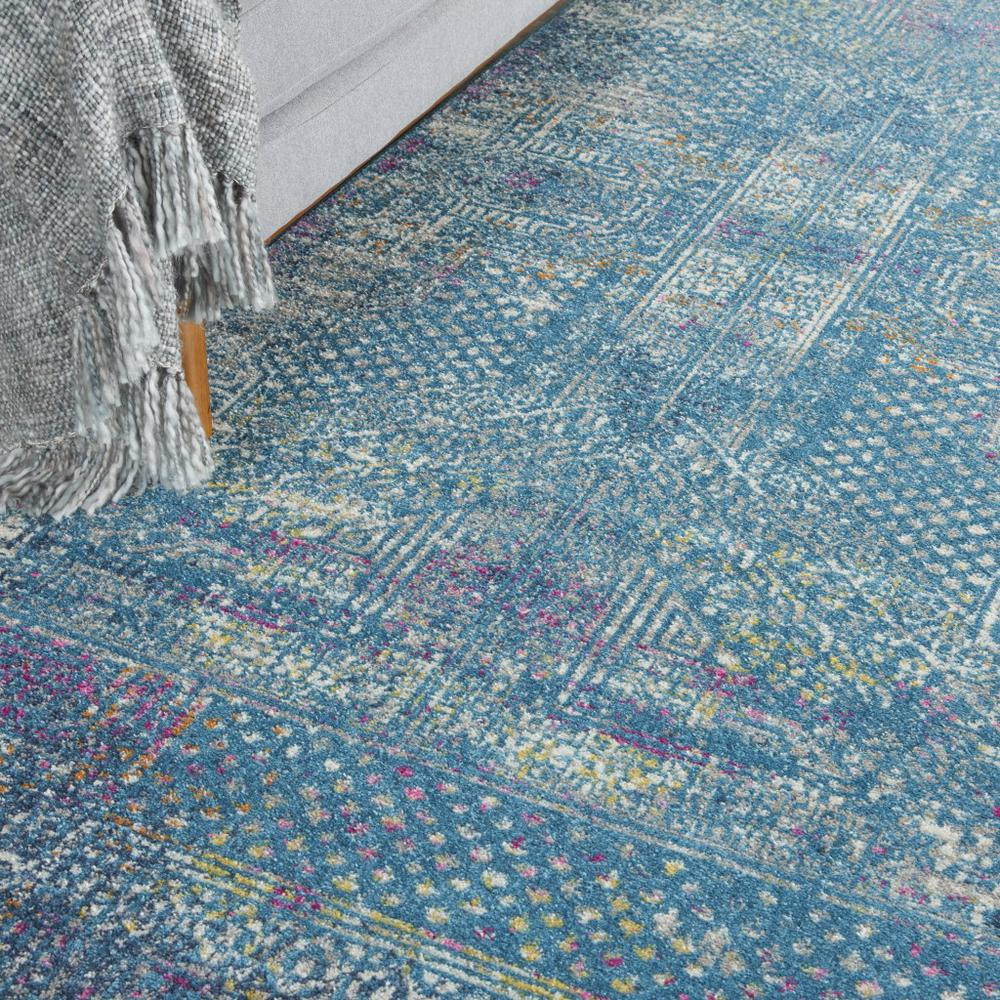 8' x 10' Blue Distressed Medallion Area Rug - 385739. Picture 5