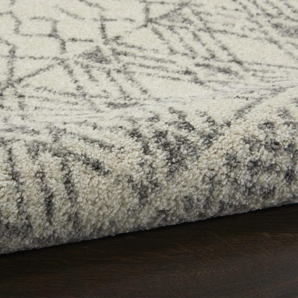 2' x 10' Ivory and Gray Geometric Runner Rug - 385770. Picture 3