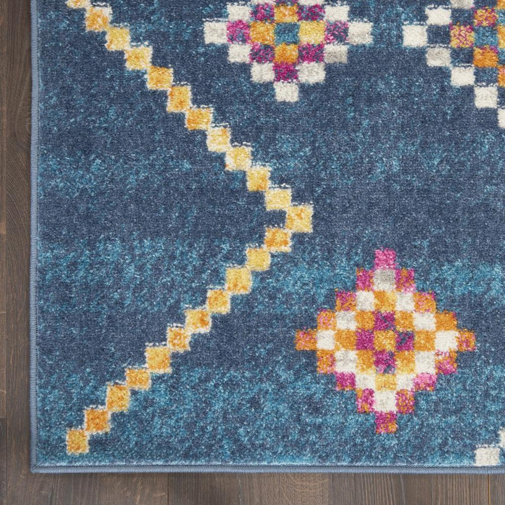 2' x 8' Navy Blue Berber Pattern Runner Rug - 385776. Picture 2