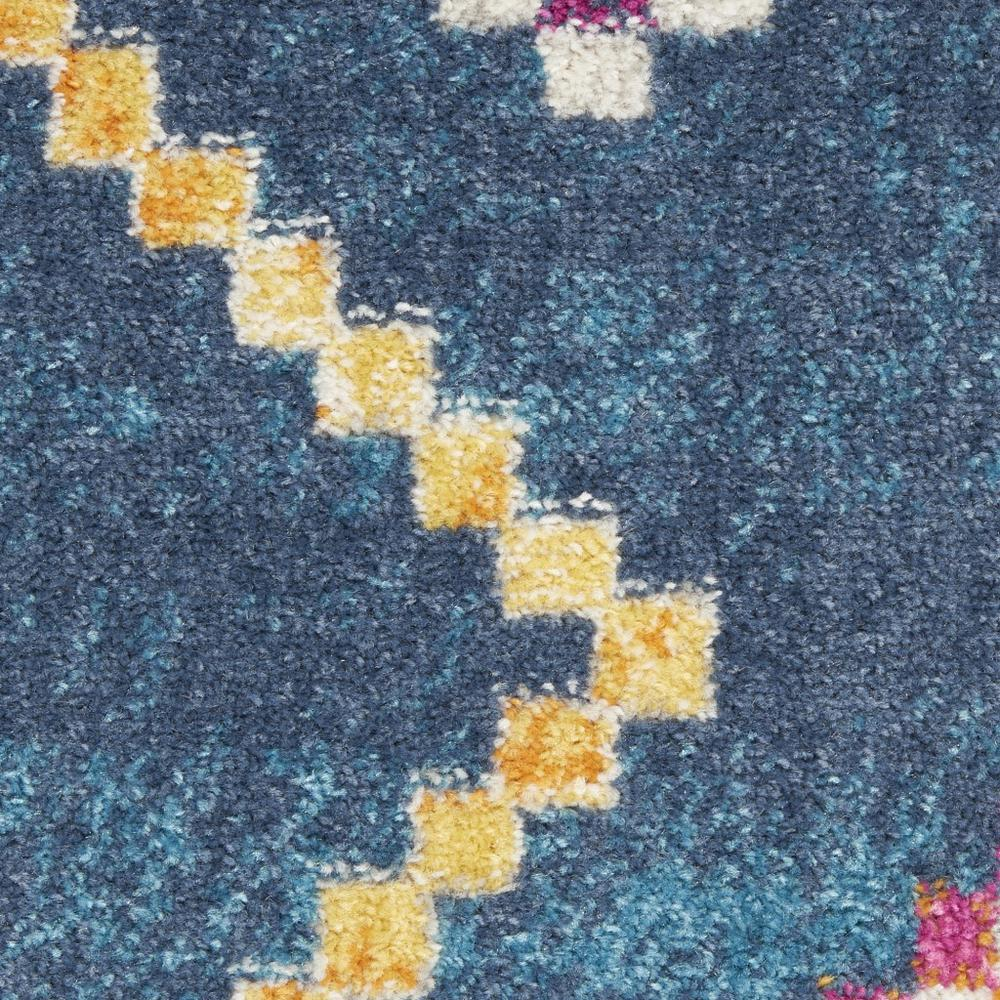 2' x 8' Navy Blue Berber Pattern Runner Rug - 385776. Picture 5