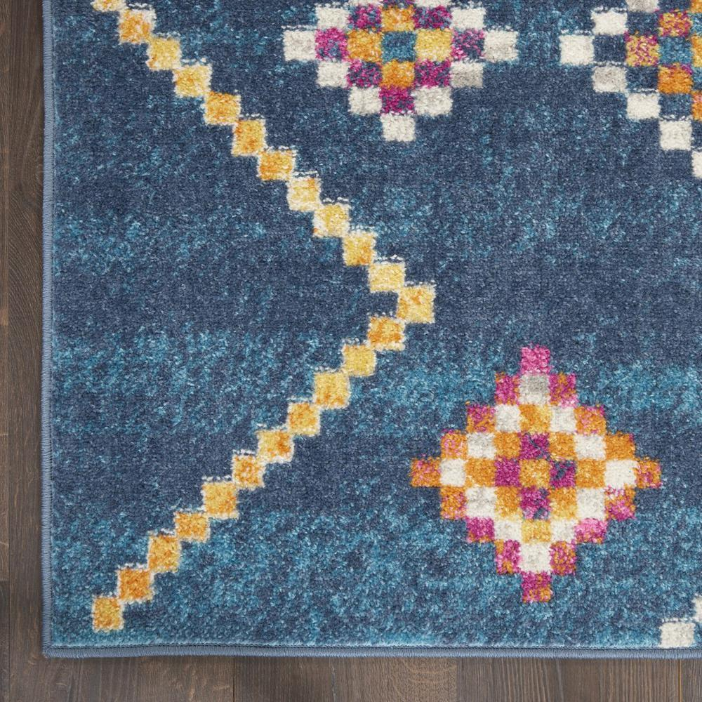 5' x 7' Navy Blue Berber Pattern Area Rug - 385778. Picture 2