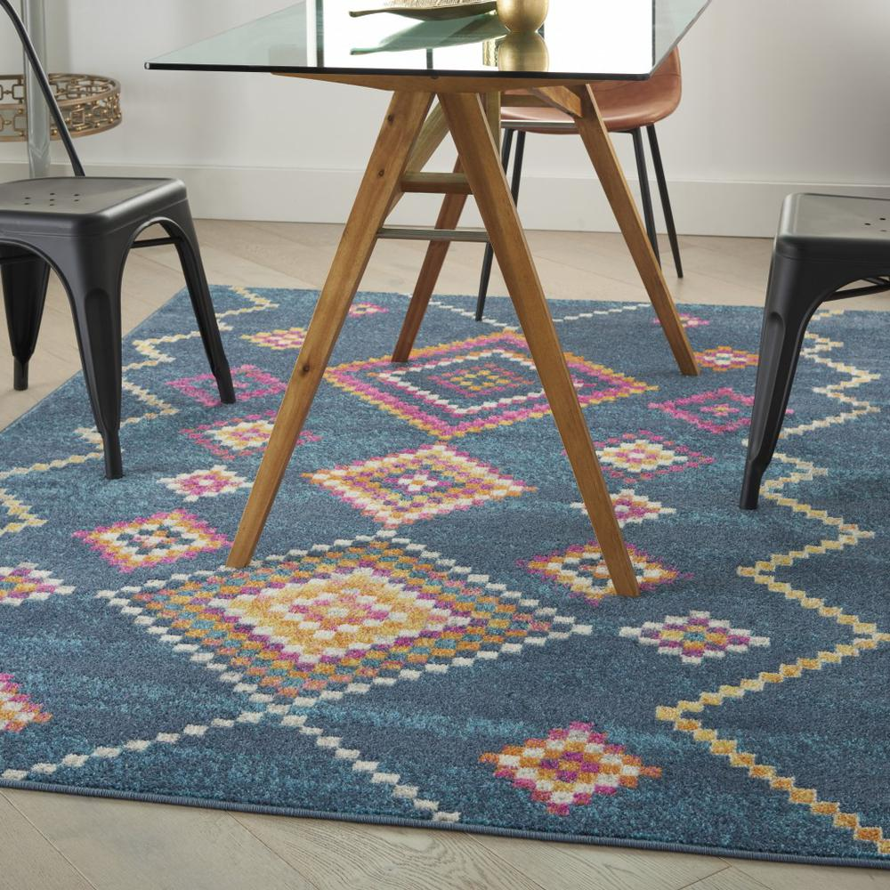 5' x 7' Navy Blue Berber Pattern Area Rug - 385778. Picture 4