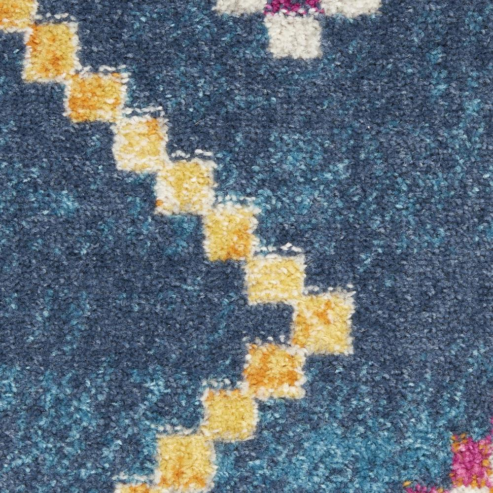 5' x 7' Navy Blue Berber Pattern Area Rug - 385778. Picture 6