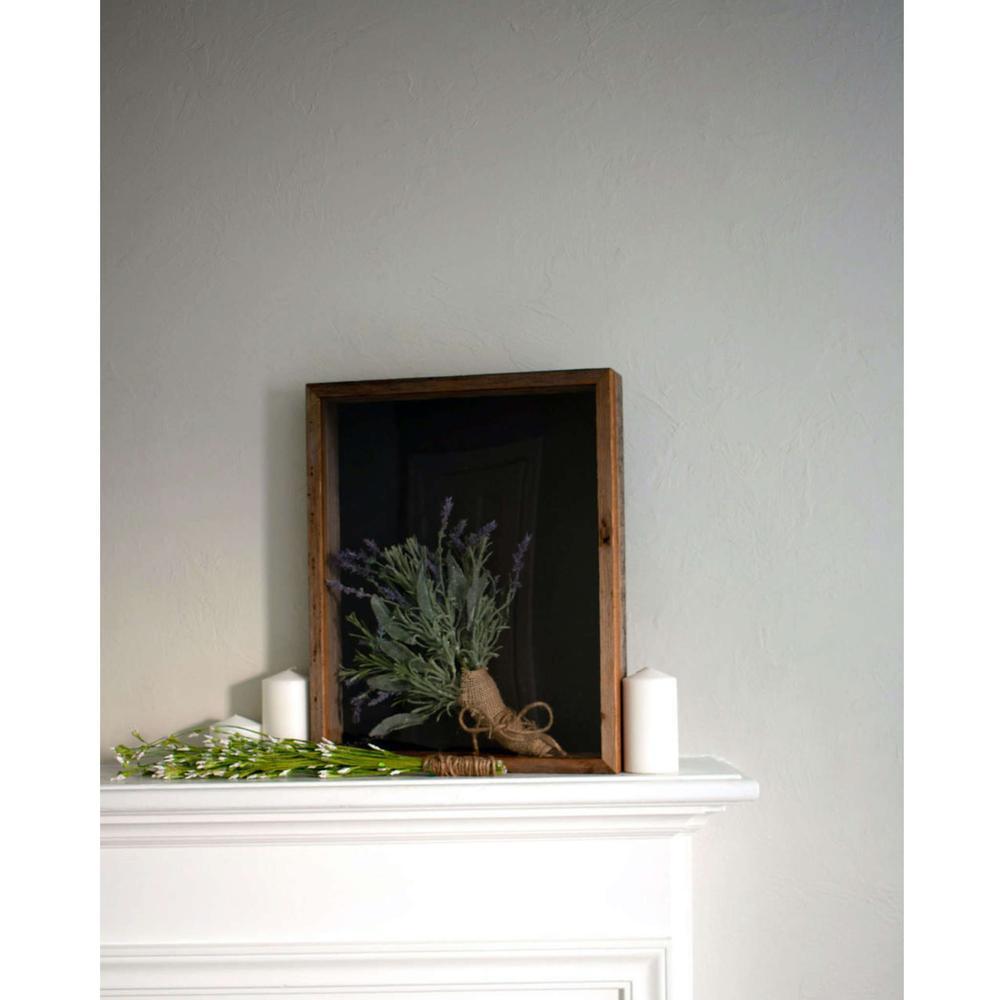 "10"" x 10"" Rustic Farmhouse Dark Gray Wood Shadow Box - 386487. Picture 4"
