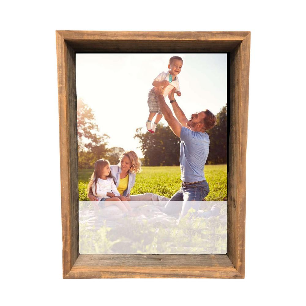 """12"""" x 12"""" Rustic Gray Wood shadow box Frame - 386488. Picture 1"""