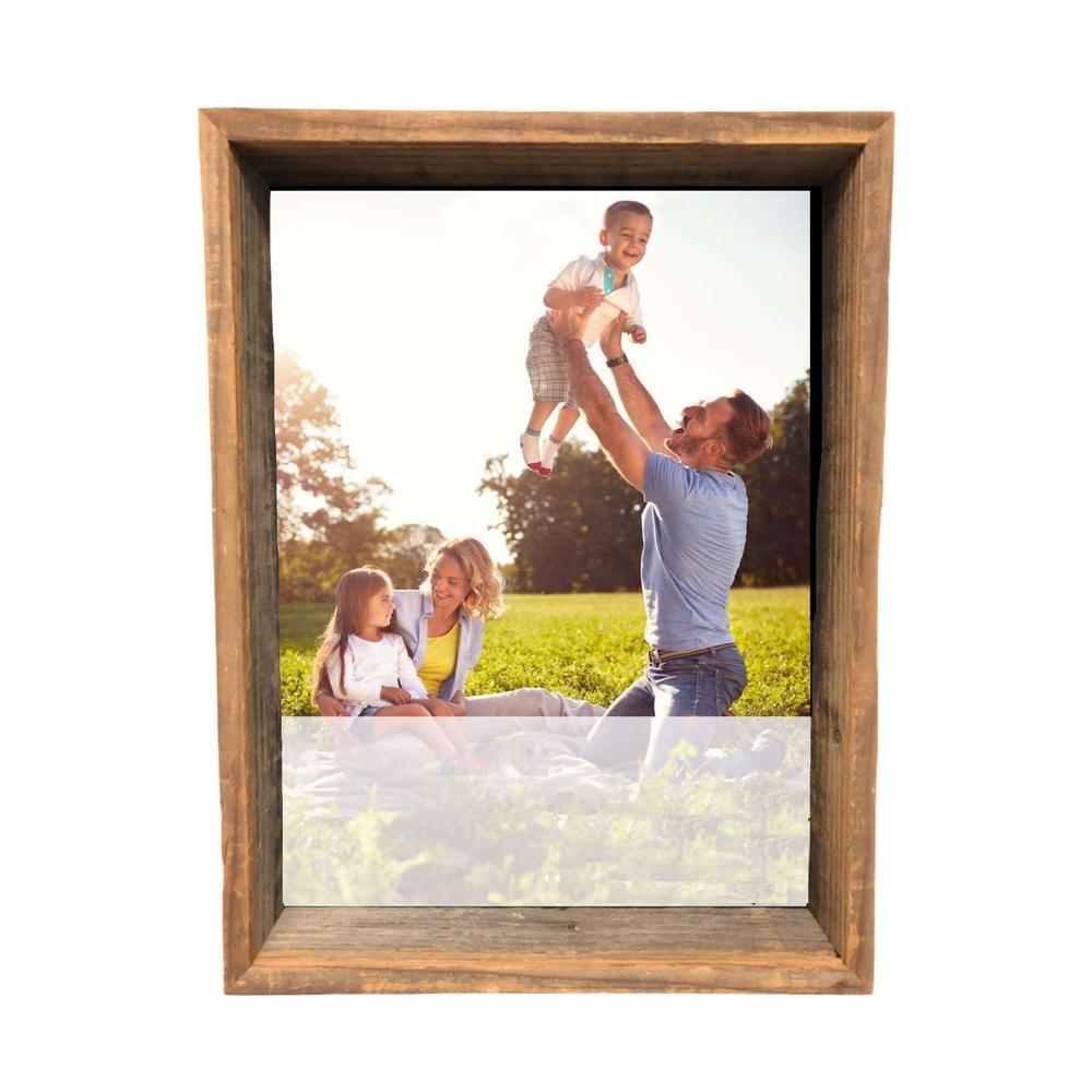 """16"""" x 20"""" Rustic Gray Wood Shadow Box Frame - 386489. Picture 1"""
