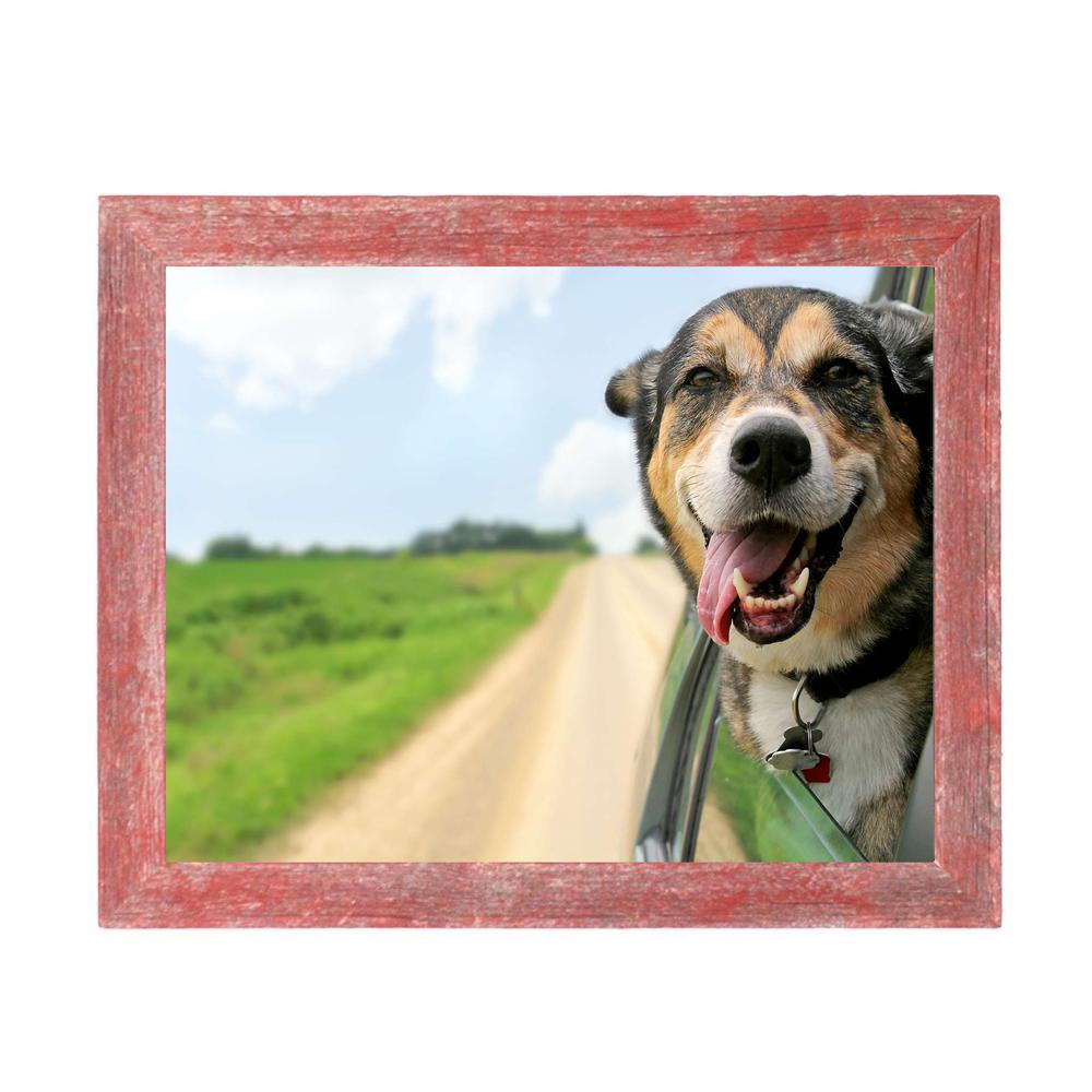 """12"""" x 12""""  Rustic Farmhouse Red Wood Frame - 386499. Picture 3"""