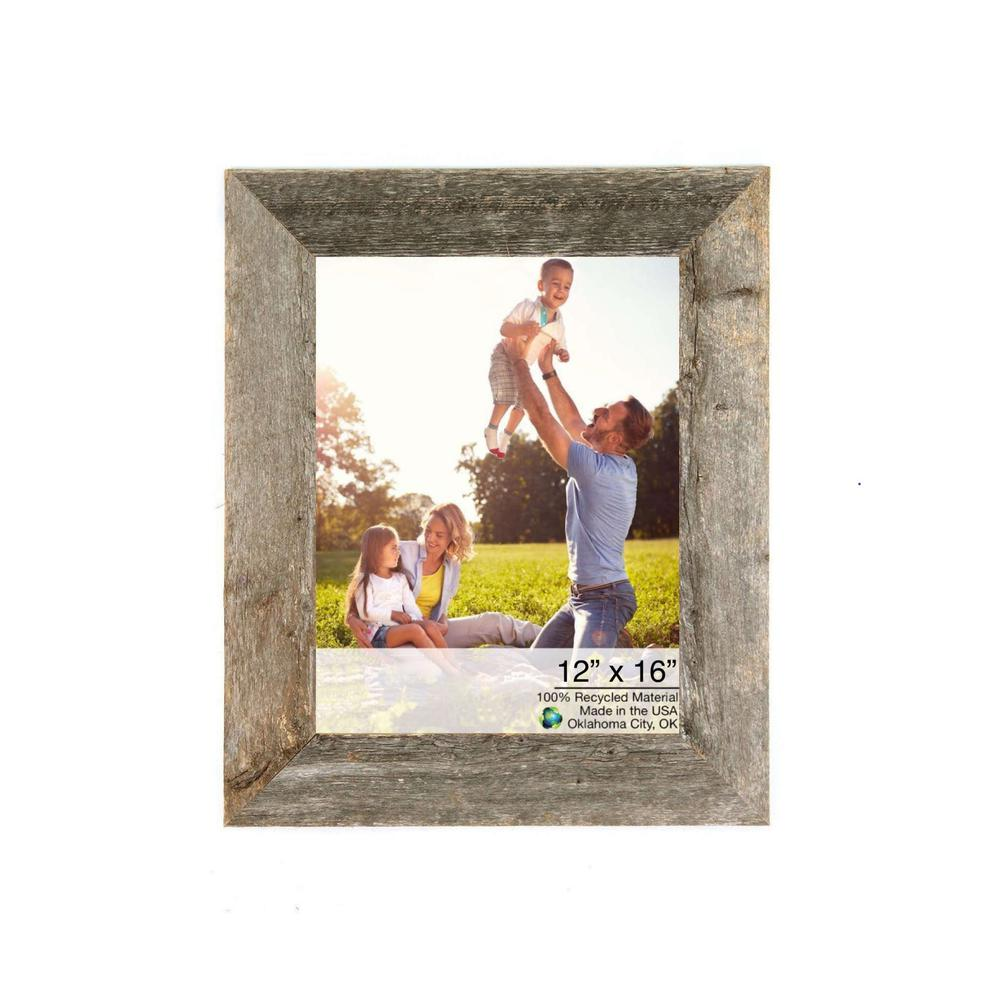 """12"""" x 16"""" Rustic Farmhouse Gray Wood Frame - 386503. Picture 1"""