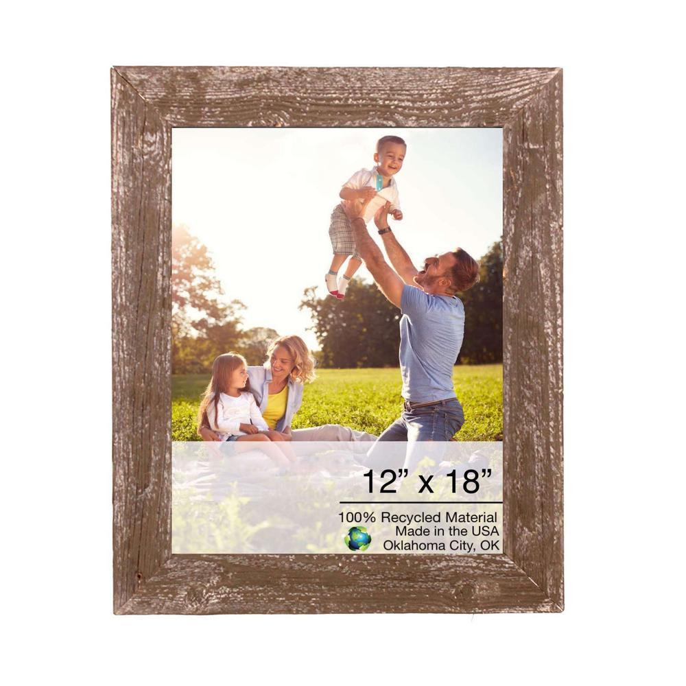 """12"""" x 18"""" Rustic Farmhouse Brown Wood Frame - 386507. Picture 1"""