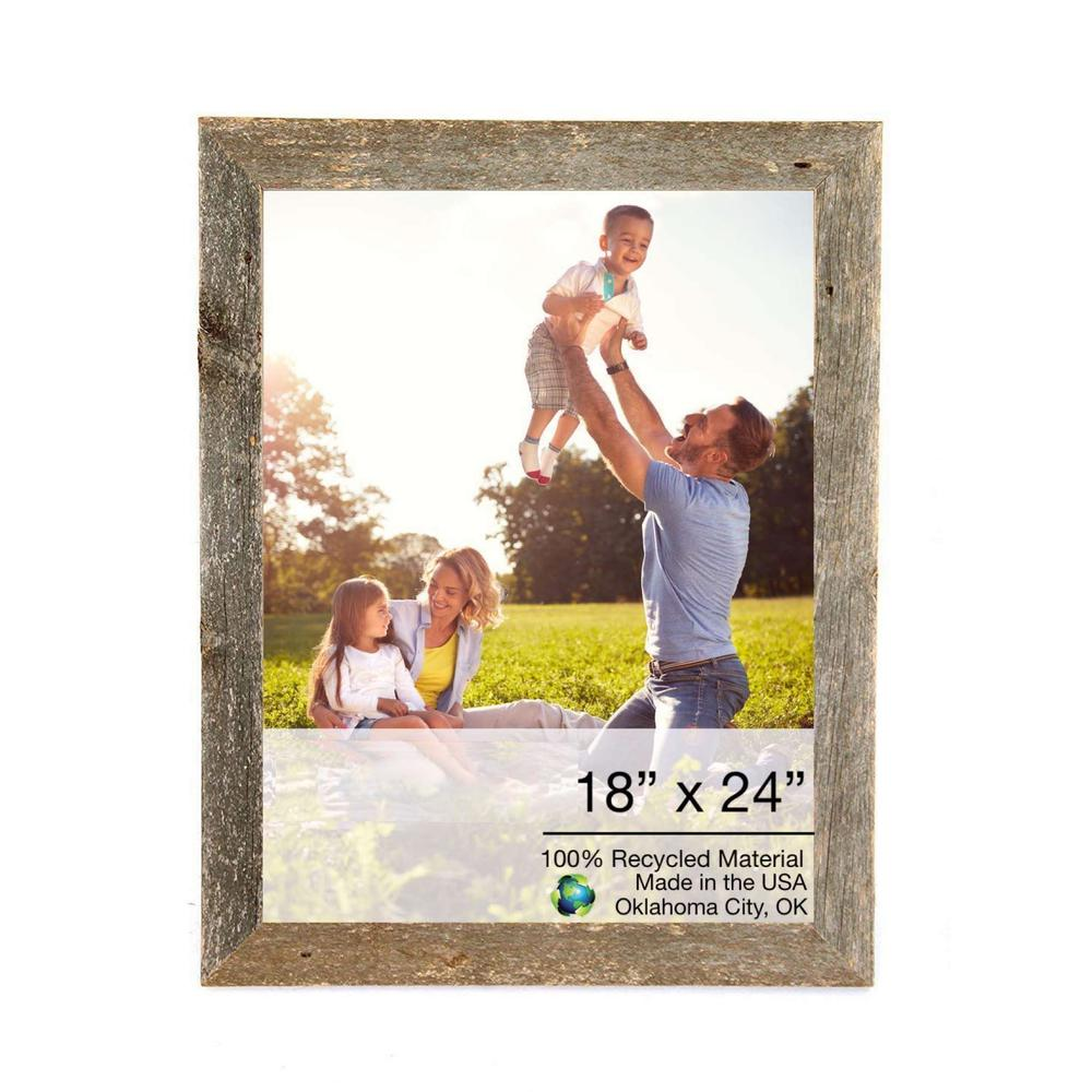 """18"""" x 24"""" Rustic Farmhouse Gray Wood Frame - 386521. Picture 1"""