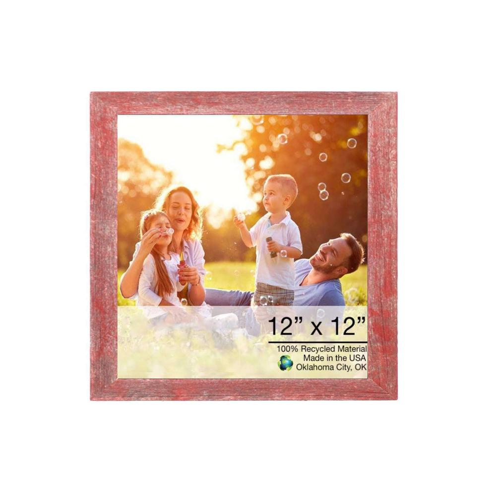 """20"""" x 24"""" Rustic Farmhouse Red Wood Frame - 386529. Picture 1"""