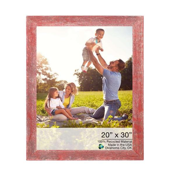 """20"""" x 30"""" Rustic Farmhouse Red Wood Frame - 386540. Picture 1"""