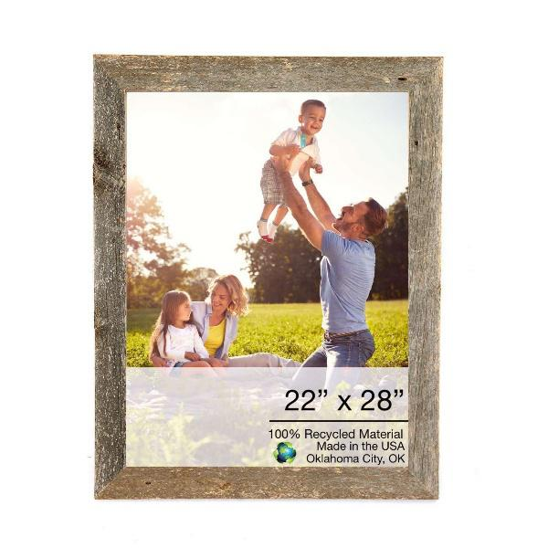 """22"""" x 24"""" Rustic Farmhouse Gray Wood Frame - 386542. Picture 1"""