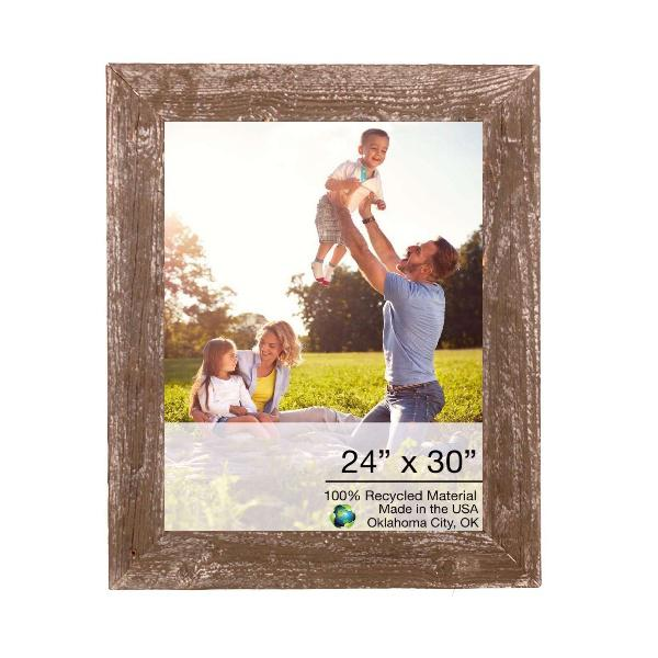 """24"""" x 30"""" Rustic Farmhouse Brown Wood Frame - 386549. Picture 1"""