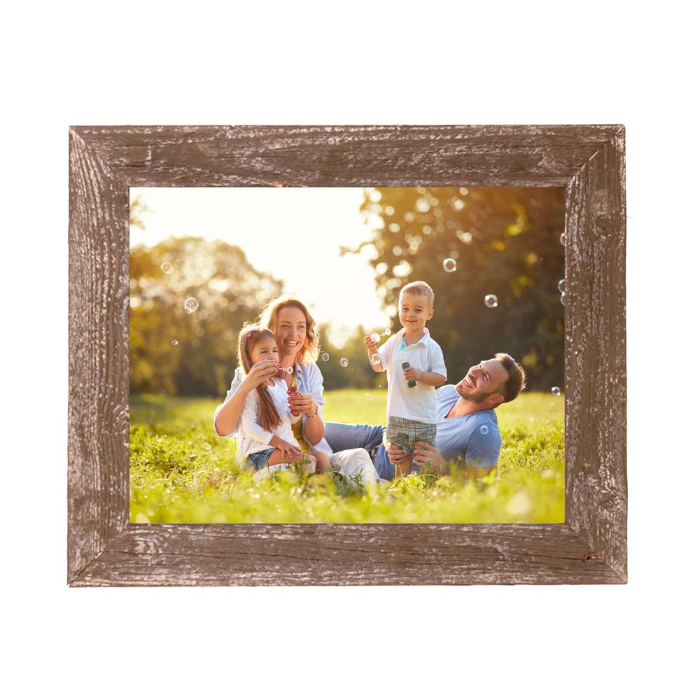 "4"" x 4"" Rustic Farmhouse Espresso Brown Wood Frame - 386557. Picture 4"