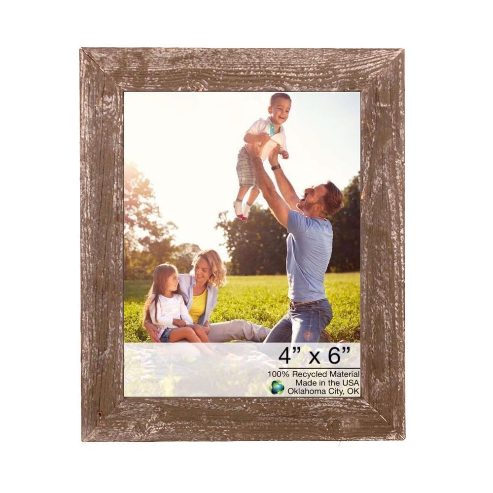 "4"" x 6"" Rustic Farmhouse Espresso Wood Frame - 386561. Picture 1"