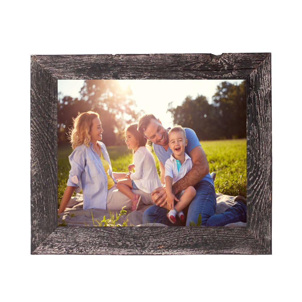 """9"""" x 12"""" Rustic Farmhouse Rustic Black Wood Frame - 386572. Picture 4"""